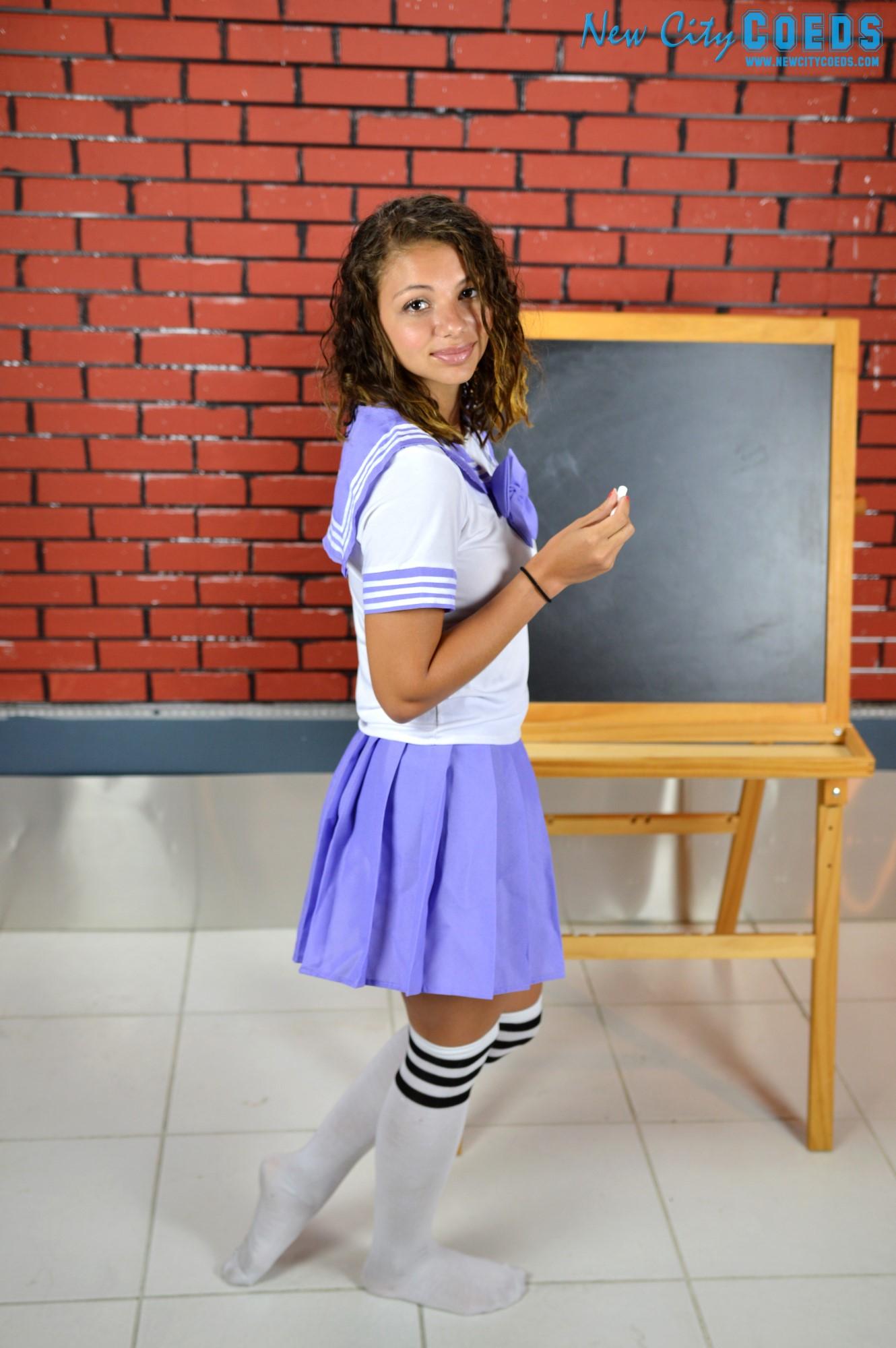 Aubrey Coed Model - Bad School Girl gallery - New City